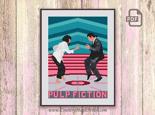 Pulp Fiction Cross Stitch Pattern #tv015