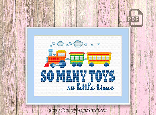 So Many Toys So Little Time Cross Stitch Patterns #oth039