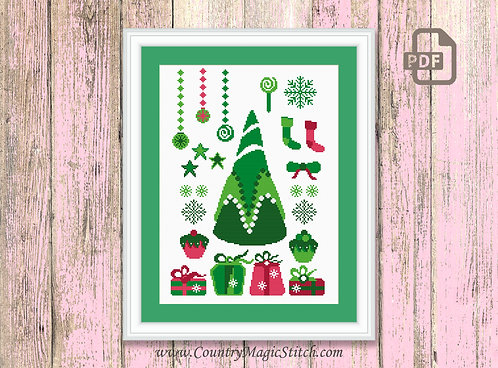 Christmas Tree Cross Stitch Pattern #ch010