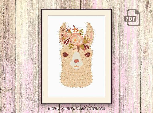 Cute Llama Cross Stitch Pattern #oth042