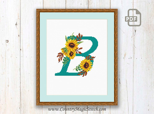 Monogram B Cross Stitch Pattern