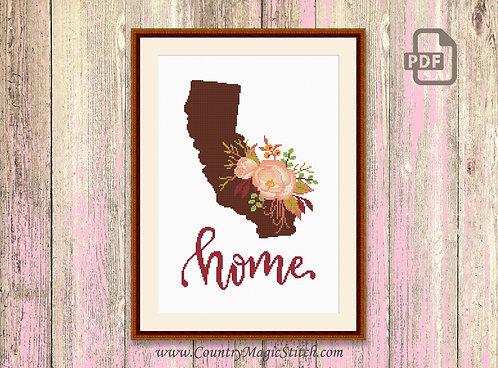 California Cross Stitch Pattern #mp003