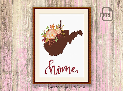 West Virginia Cross Stitch Pattern #mp050