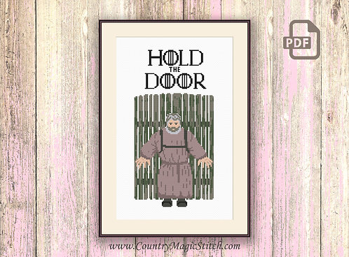 Hold The Door Cross Stitch Pattern #got037