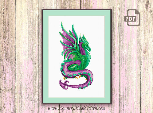 The Dragon Cross Stitch Pattern #oth036