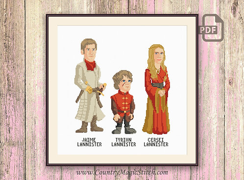 House Lannister Cross Stitch Pattern #got015