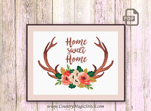 Deer Cross Stitch Pattern #oth024