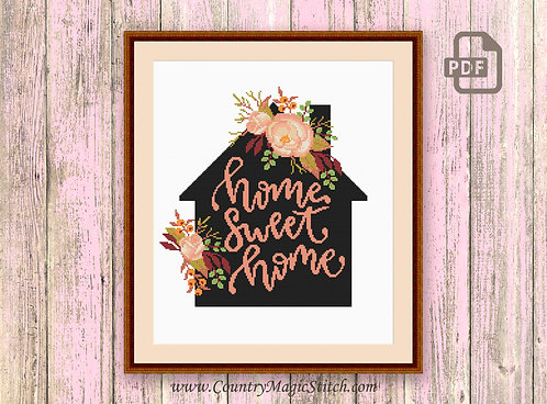 Home Sweet Home Cross Stitch Pattern #oth040