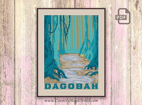 Visit Dagobah Cross Stitch Pattern #tv028