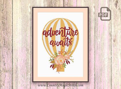 Adventure Awaits Cross Stitch #oth052
