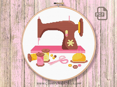 Sewing Machine Cross Stitch Pattern #oth022