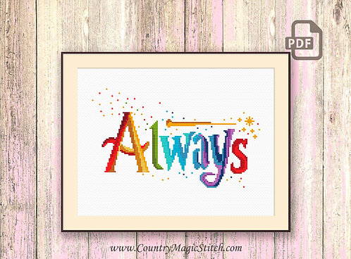 Always Cross Stitch Pattern #oth043