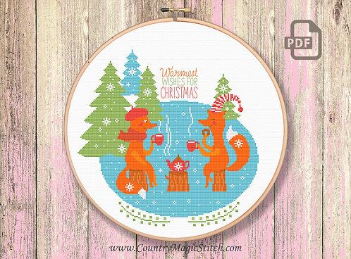 Warmest Wisher For Christmas Cross Stitch Pattern #ch007