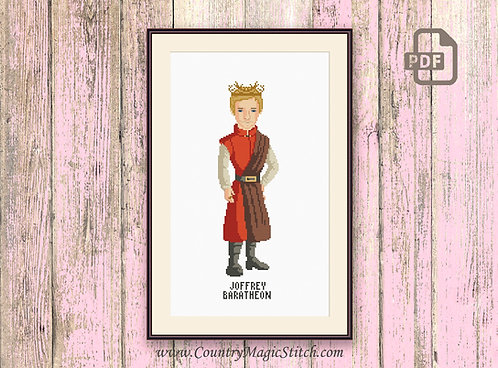 Joffrey Baratheon Cross Stitch Pattern #got013
