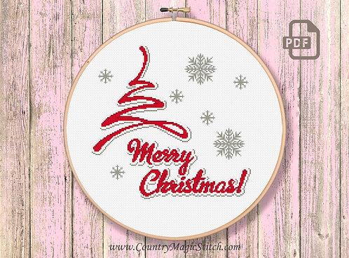 Christmas Tree Cross Stitch Pattern #ch012