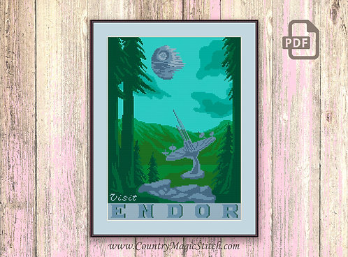 Visit Endor Cross Stitch Pattern #tv023