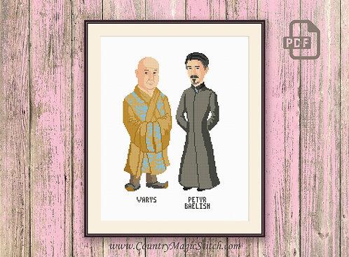 Varys and Petyr Baelish Cross Stitch Pattern #got016