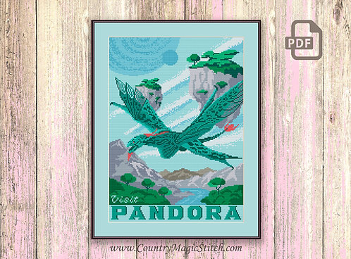 Visit Pandora Cross Stitch Pattern #tv062