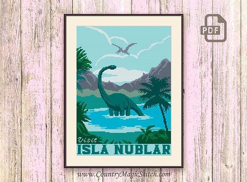 Visit Isla Nublar Cross Stitch Pattern #tv010