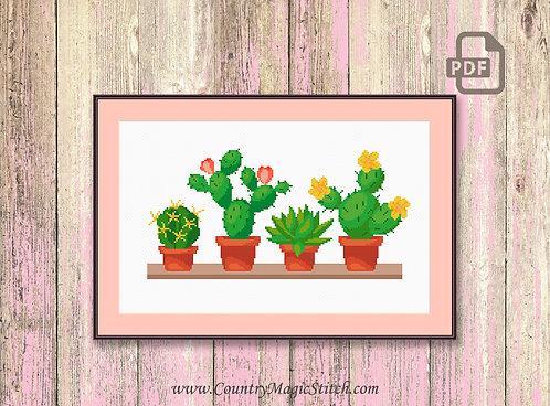 Cactus Cross Stitch Pattern #oth018