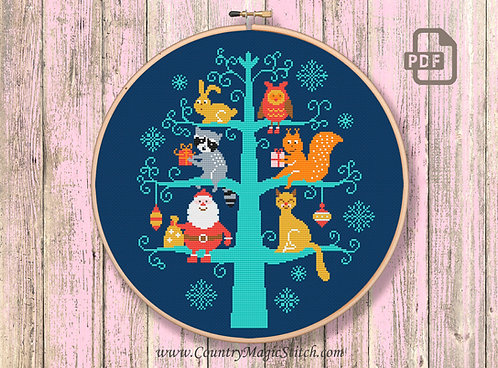 Christmas Animals Cross Stitch #ch017