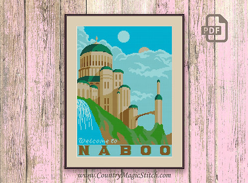Welcome to Naboo Cross Stitch Pattern #tv027
