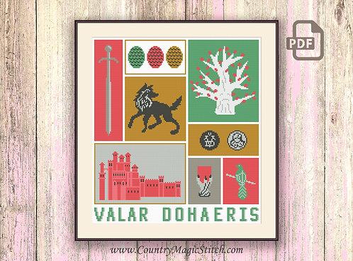 Valar Dohaeris Cross Stitch Pattern #got21