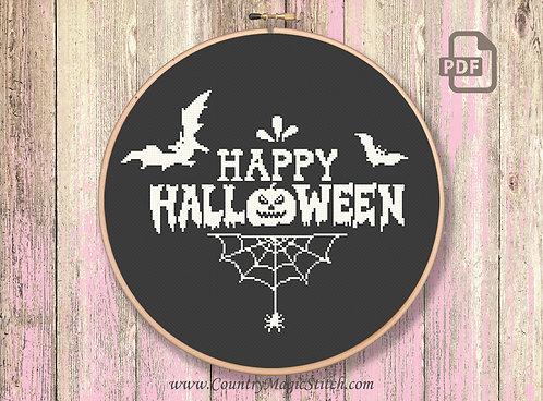 Happy Halloween Cross Stitch Pattern #hl003
