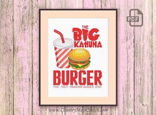 The Big Kahuna Burger Cross Stitch Pattern #tv034
