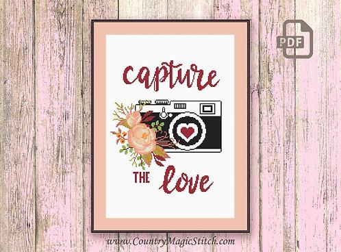 Capture The Love Cross Stitch #oth053