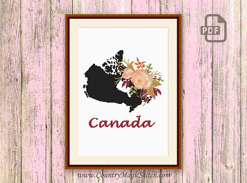 Canada Cross Stitch Pattern #mp030