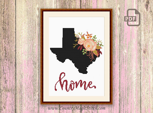 Texas Cross Stitch Pattern #mp002