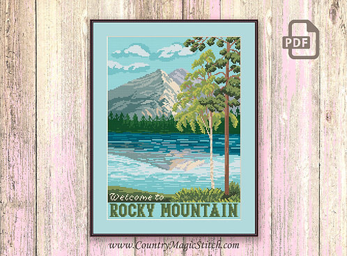 Welcome to Rocky Mountain Cross Stitch Pattern #ntp002