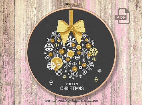 Golden Christmas Tree Toy Patterns #ch022