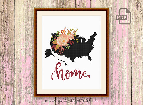 United States Cross Stitch Pattern #mp008