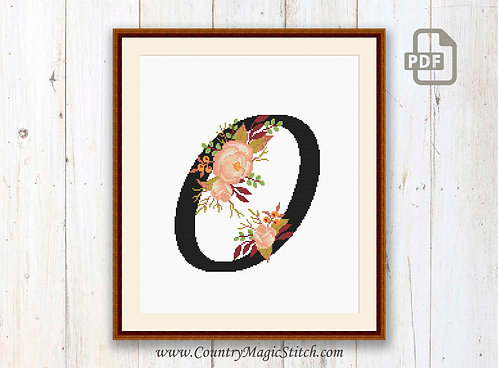 Monogram O Cross Stitch Pattern
