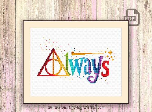Always Cross Stitch Pattern #hp020