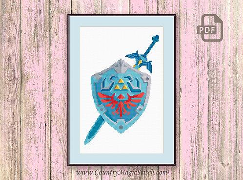 The Hylian Shield Cross Stitch Pattern #tv030