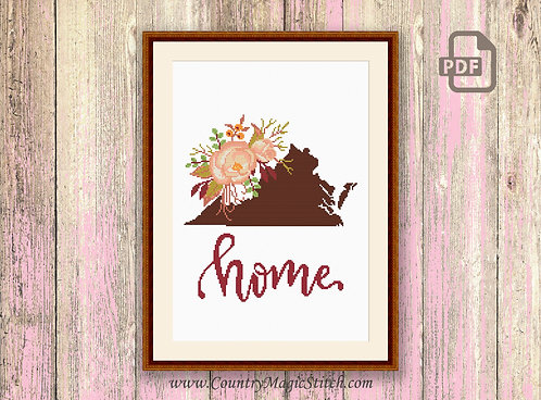 Virginia Cross Stitch Pattern #mp036