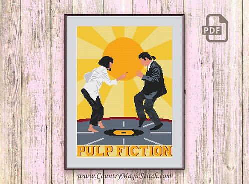Dance Pulp Fiction Cross Stitch Pattern #tv016