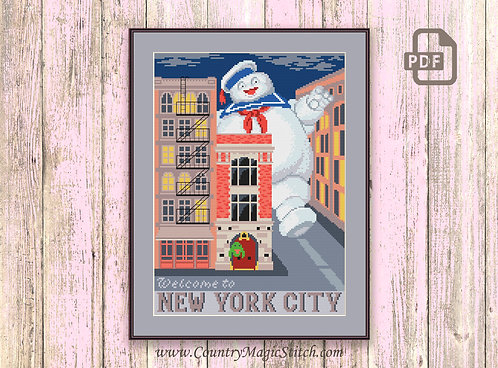 Welcome to New York City Cross Stitch Pattern #tv063
