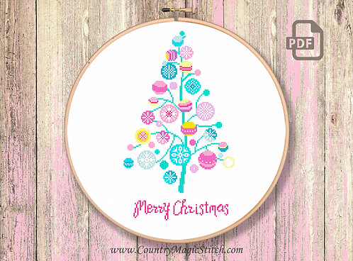 Christmas Tree Cross Stitch Pattern #ch009