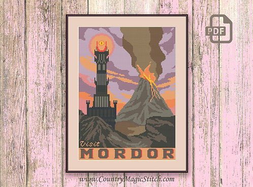 Visit Mordor Cross Stitch Pattern #tv021