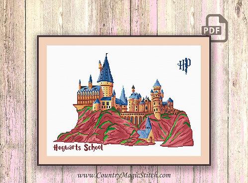 Magic Castle Cross Stitch Pattern #hp007