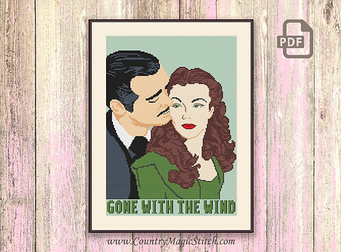 Gone With The Wind Cross Stitch Pattern #tv012