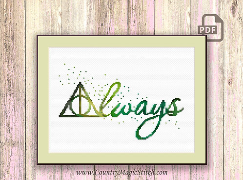 Always Cross Stitch Pattern #hp008