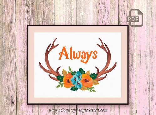 Always Deer Cross Stitch Pattern #oth037
