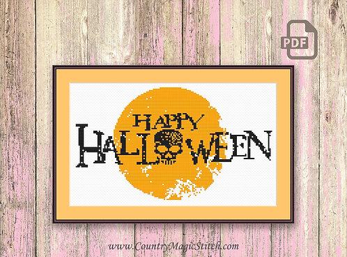 Happy Halloween Cross Stitch Pattern #hl002