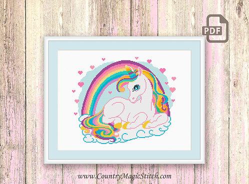 Amazing Unicorn Cross Stitch Pattern #oth051