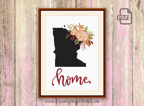 Minnesota Cross Stitch Pattern #mp001